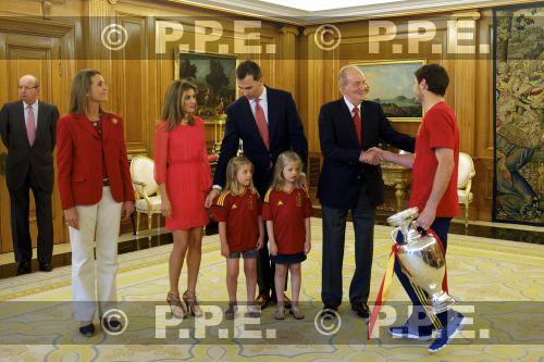 Recepción en Zarzuela a la Selección española PPE12070201
