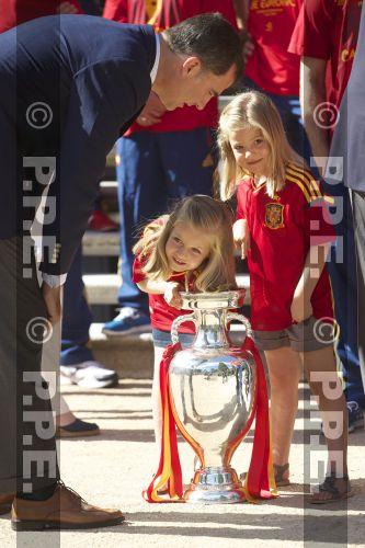 Recepción en Zarzuela a la Selección española PPE12070205