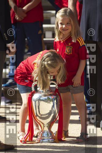 Recepción en Zarzuela a la Selección española PPE12070206