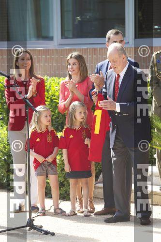 Recepción en Zarzuela a la Selección española PPE12070207