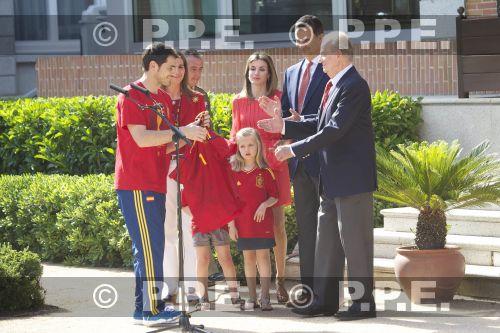 Recepción en Zarzuela a la Selección española PPE12070208