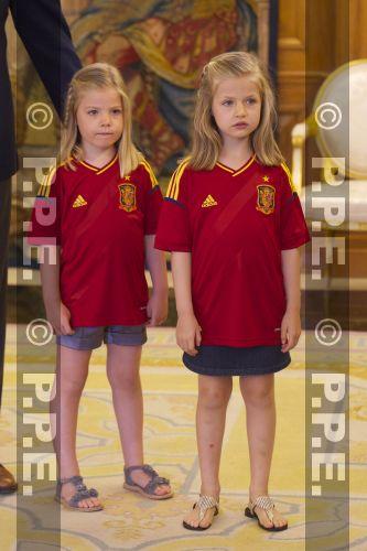 Recepción en Zarzuela a la Selección española PPE12070210