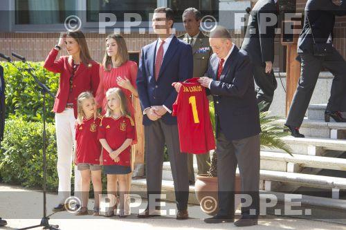 Recepción en Zarzuela a la Selección española PPE12070215