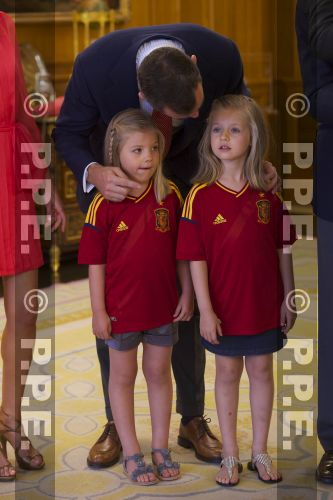 Recepción en Zarzuela a la Selección española PPE12070217