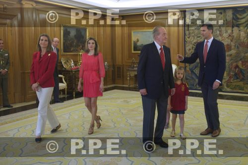 Recepción en Zarzuela a la Selección española PPE12070221