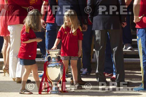Recepción en Zarzuela a la Selección española PPE12070222