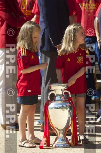 Recepción en Zarzuela a la Selección española PPE12070223