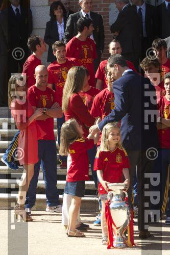 Recepción en Zarzuela a la Selección española PPE12070224
