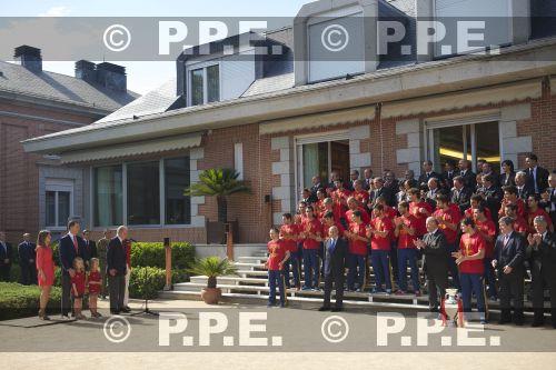 Recepción en Zarzuela a la Selección española PPE12070225