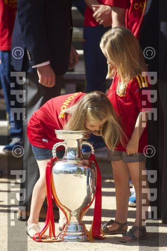 Recepción en Zarzuela a la Selección española PPE12070227