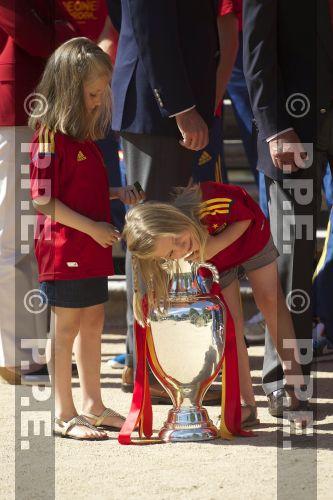 Recepción en Zarzuela a la Selección española PPE12070229