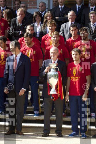 Recepción en Zarzuela a la Selección española PPE12070232