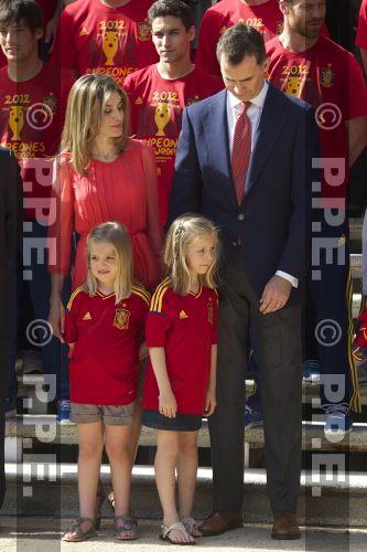 Recepción en Zarzuela a la Selección española PPE12070233