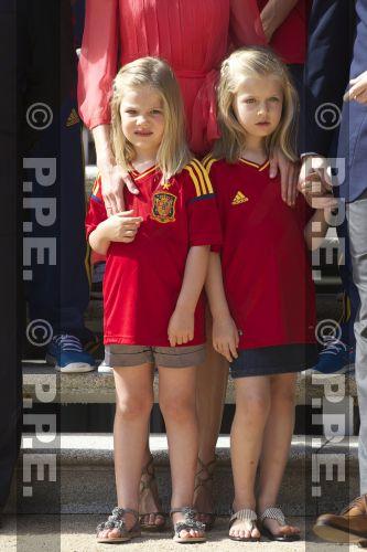 Recepción en Zarzuela a la Selección española PPE12070234
