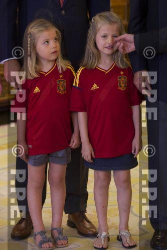 Recepción en Zarzuela a la Selección española PPE12070237