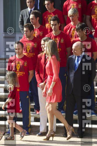 Recepción en Zarzuela a la Selección española PPE12070239