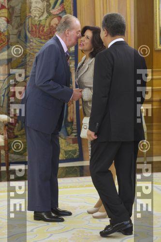 Audiencia del rey al Presidente de la República Dominicana en el Palacio de la Zarzuela PPE12070302