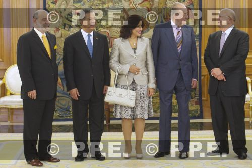 Audiencia del rey al Presidente de la República Dominicana en el Palacio de la Zarzuela PPE12070303
