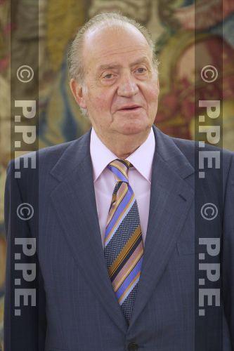 Audiencia del rey al Presidente de la República Dominicana en el Palacio de la Zarzuela PPE12070304