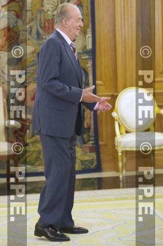 Audiencia del rey al Presidente de la República Dominicana en el Palacio de la Zarzuela PPE12070305