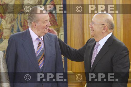 Audiencia del rey al Presidente de la República Dominicana en el Palacio de la Zarzuela PPE12070307