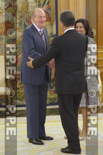 Audiencia del rey al Presidente de la República Dominicana en el Palacio de la Zarzuela PPE12070308
