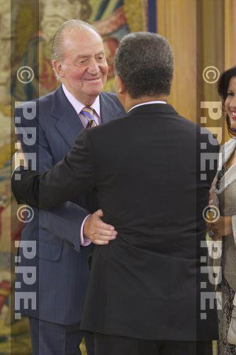 Audiencia del rey al Presidente de la República Dominicana en el Palacio de la Zarzuela PPE12070309
