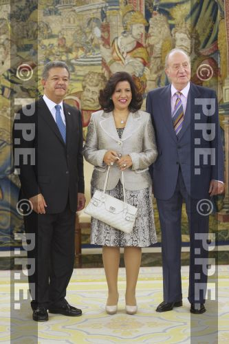 Audiencia del rey al Presidente de la República Dominicana en el Palacio de la Zarzuela PPE12070310