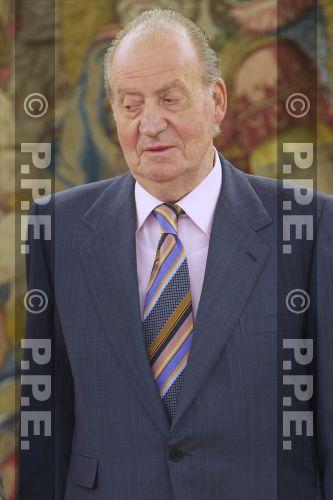 Audiencia del rey al Presidente de la República Dominicana en el Palacio de la Zarzuela PPE12070311