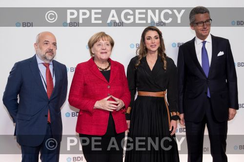 Королева Рания на съезде Федерации немецкой промышленности