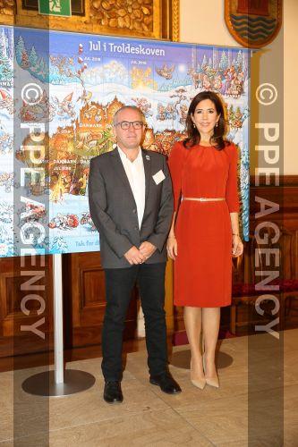 La princesa Mary presenta el sello de Navidad, 29 octubre. PPE181029141