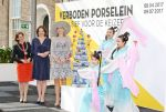 07-04-2017 Delft Queen Maxima with Marja van Bijsterveldt-Vliegenthart and Janelle Moerman, during the opening of the exhibition ''Forbidden Porcelain – Exclusive for the emperor'' at museum Prinsenhof in Delft. 