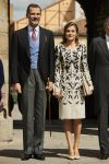 20-04-2017 Spain King Felipe and Queen Letizia arrive for the 2016 Cervantes Prize Literature award ceremony at the University of Alcala de Henares.