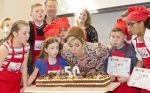 20-04-2017 Lelystad Queen Maxima during the opening of the 50th Resto VanHarte, KidsResto, in Lelystad.