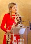 12-04-2018 The Hague Queen Maxima during the 15th anniversary of the Prince Claus chair ( Leerstoel) at palace Noordeinde in The Hague.