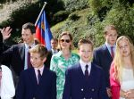 15-08-2012 Liechtenstein Furst Alois Hereditary Prince von und zu Liechtenstein Sophie Hereditary Princess von und zu Liechtenstein at the national day in Liechtensten. Prince Joseph Wenzel (1995), Princess Marie Caroline (1996), Prince Georg  (1999) and Prince Nikolaus (2000).  (c) PPE/Nieboer  PPE-Agency/Edwin Veloo www.ppe-agency.com  Anemonenweg 52 2241 XM Wassenaar M. 06-43497725   If you have any questions please call or e-mail us with your inquiries