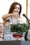 15-08-2012 Crown Princess Mary at the opening of the Flower Festival in Odense. The Princess named a new rose: