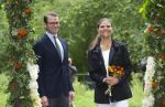 23-08-2012 Stockholm Princess Victoria and Prince Daniel during their inauguration of the Karlekstigen (Love Path) at the Djurgarden Royal Park in Stockholm. The path was a wedding gift from the WWF World Wildlife Foundation. Belgium and Netherlands only.  (c) PPE/ddp/Langbehn  PPE-Agency/Edwin Veloo www.ppe-agency.com  Anemonenweg 52 2241 XM Wassenaar M. 06-43497725   If you have any questions please call or e-mail us with your inquiries
