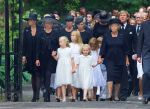 16-08-2013 Vuursche Funeral of Prince Friso at the Stulpkerk in Lage Vuursche. Princess Mabel and Princess Beatrix and Luana and Zaria and Prince Constantijn and Princess Laurentien and Eloise and Claus-Casimir and King Willem-Alexander and Queen Maxima and Princess Amalia and Princess Alexia and Princess Ariane andKing Harald on their way to the Stulpkerk in Lage Vuursche for the funeral.  (c) PPE/Nieboer