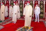 31-07-2020 King Mohammed VI of Morocco performs Eid Al Adha prayer in the presence of the Crown Prince Moulay el-Hassan of Morocco and his brother Prince Moulay Rachid of Morocco at the mosque of M Diq, Morocco. 