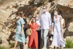 17-08-2020 Ibiza Queen Letizia and King Felipe visited the Puig des Molins Monographic museum and Necropolis and the village of Sant Antoni de Portmany on the Balearic island of Ibiza.
