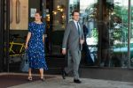 20-08-2020 Sweden Crown Princess Victoria and Prince Daniel leaving a meeting with Visita at Downtown Camper at Scandic, Stockholm.