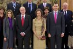 20-12-2011 Madrid Princess Letizia and Prince Felipe and King Juan Carlos and Queen Sofia attended audiences with the board of the national heritage, chaired by Mr Nicolas Martinez-Fresno and Pavia and with the permanent council of greatness of spain, chaired by Mr Alfonso Martinez de Irujo and Fitz-James Stuart, Duke of Aliaga at Zarzuela Palace in Madrid.  No Spain  (c) PPE/Thorton  PPE-Agency/Edwin Veloo www.ppe-agency.com  Anemonenweg 52 2241 XM Wassenaar M. 06-43497725 F 084-7384869  If you have any questions please call or e-mail us with your inquiries