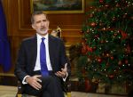 24-12-2020 King Felipe VI of Spain delivers his traditional Christmas speech, recorded on December 22, 2020 at La Zarzuela palace in Madrid.