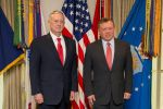31-01-2017 King Abdullah II of Jordan  with Secretary of Defense Jim Mattis at the Pentagon in Washington, D.C., Jan. 30, 2017.  