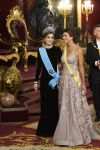 22-02-2017 Diner Queen Letizia and Argentine Juliana Awada during the galadinner on the 1st day of the 2 day statevisit to Spain at the Royal palace in Madrid.