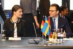 28-01-2014 Princess Victoria of Sweden and Prince Daniel during the conference