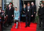 29-01-2014 Dusseldorf Princess Victoria of Sweden leaves the Town Hall with mayor Dirk Elbers in Duesseldorf.  © PPE/ddp/Christoph Reichwein
