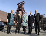 29-01-2014 Essen Minister of Economy Garrelt Duin, Mayor of Essen Reinhard Pass, Ewa Björling, Princess Victoria of Sweden and Prince Daniel visit the Zeche Zollverein in Essen.  ©PPE/ddp/ Pool Roberto Pfeil