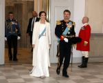 02-01-2020 Denmark Princess Mary and Prince Frederik during the Corps Diplomatique New Years reception at Christiansborg castle in Copenhagen.